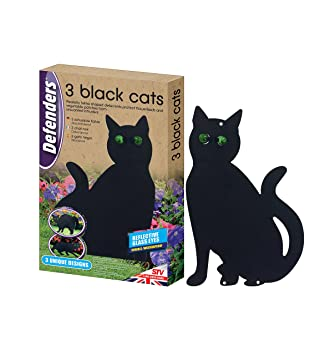 798 g Black Defenders Three Black Cats Cat Deterrent, Scare Cats from Gardens and Lawns, Humane Cat Repellent