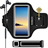 Galaxy Note 9/8 Armband,RUNBACH Sweatproof Running Exercise Gym Cellphone Sportband Bag with Fingerprint Touch/Key Holder and Card Slot for Samsung Galaxy Note 9/Note 8 (Black)