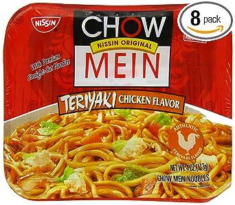 Amazon Com Nissin Chow Mein Teriyaki Chicken Chow Mein Noodles Oriental Food Prdct 4 Oz 0070662087291 Ramen Noodles Grocery Gourmet Food
