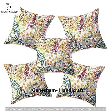 Amazon.com: Hecho a mano Paisley bordado Kantha decorativo ...
