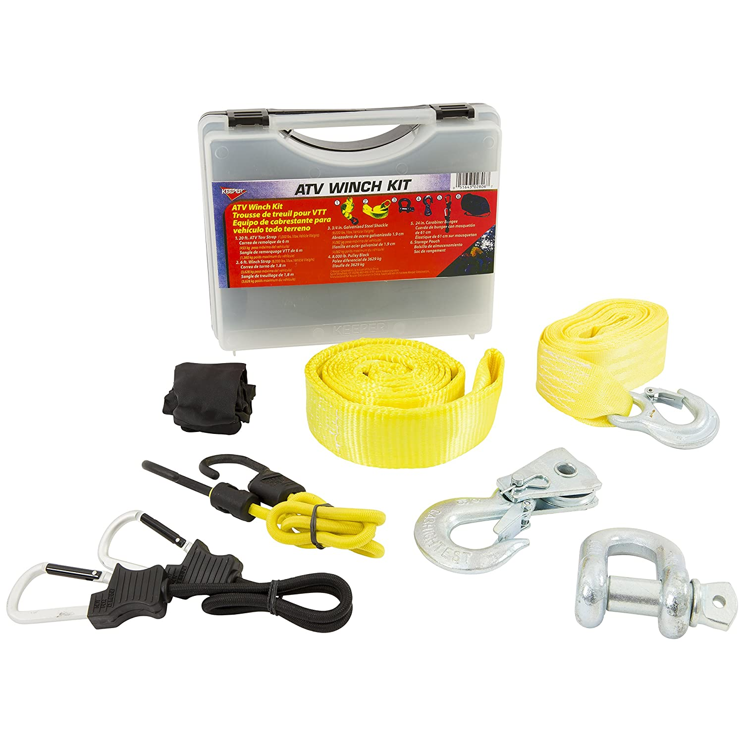 Keeper 02806 ATV Winch Accessory Kit with Storage Case