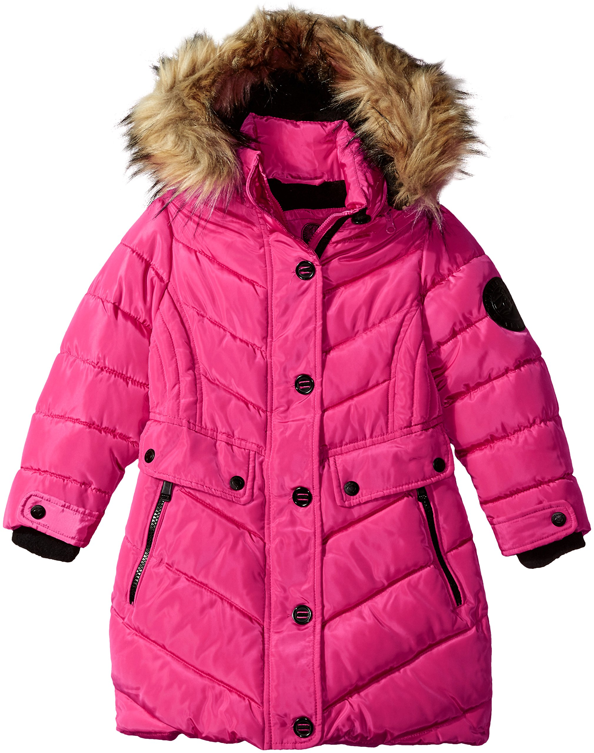 Weatherproof Little Girls' Outerwear Jacket (More Styles Available), Long Bubble-WG160-Fuchsia, 4