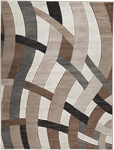 Signature Design by Ashley Jacinth Accent Area Rug, Large, Shades of Brown