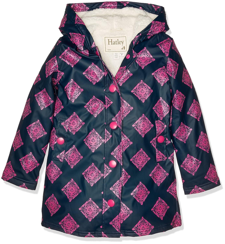 Hatley Mädchen Regenmantel Splash Jacket-Sherpa Lined