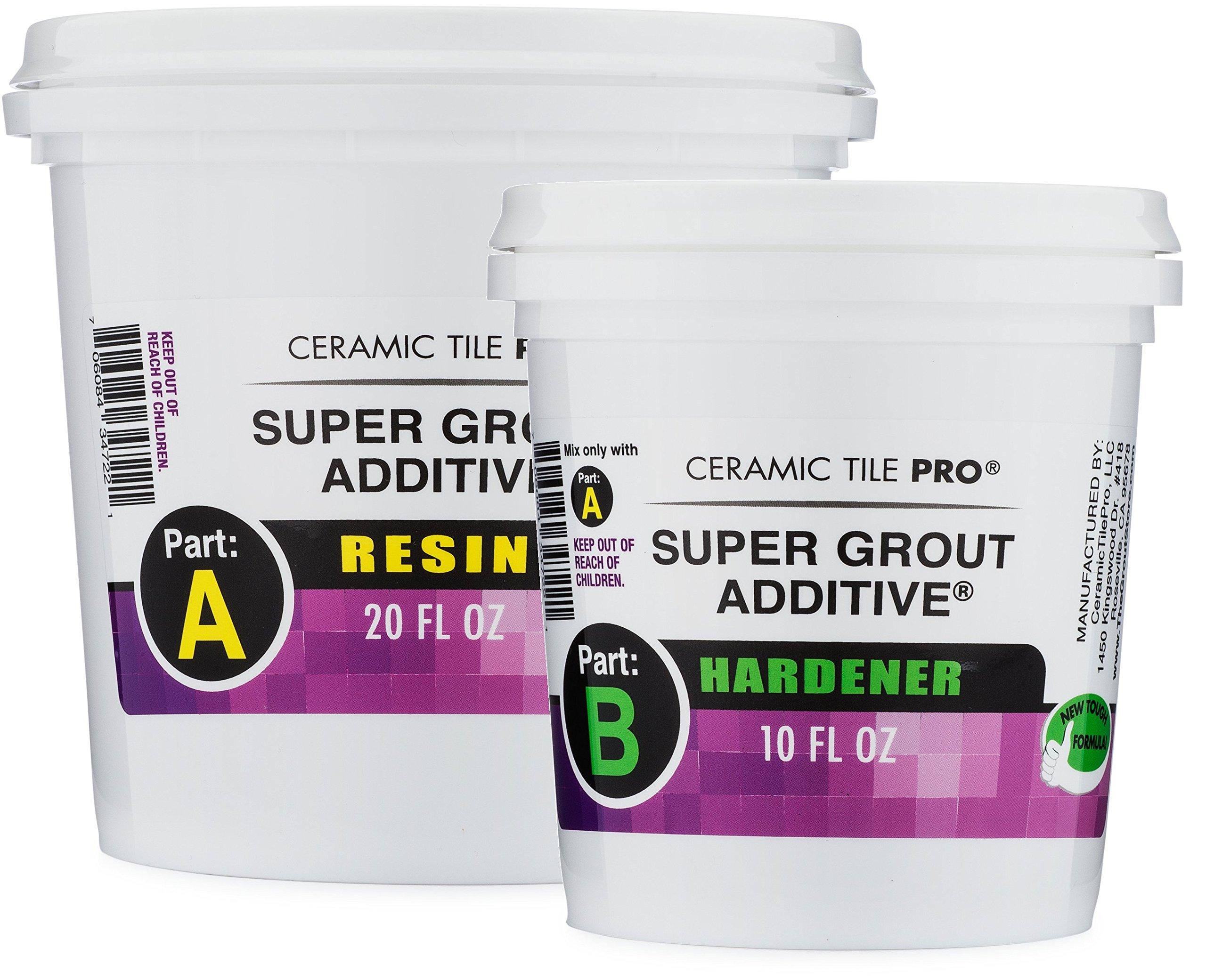 Ceramic Tile Pro Super Grout Additive Shower Floor Kit