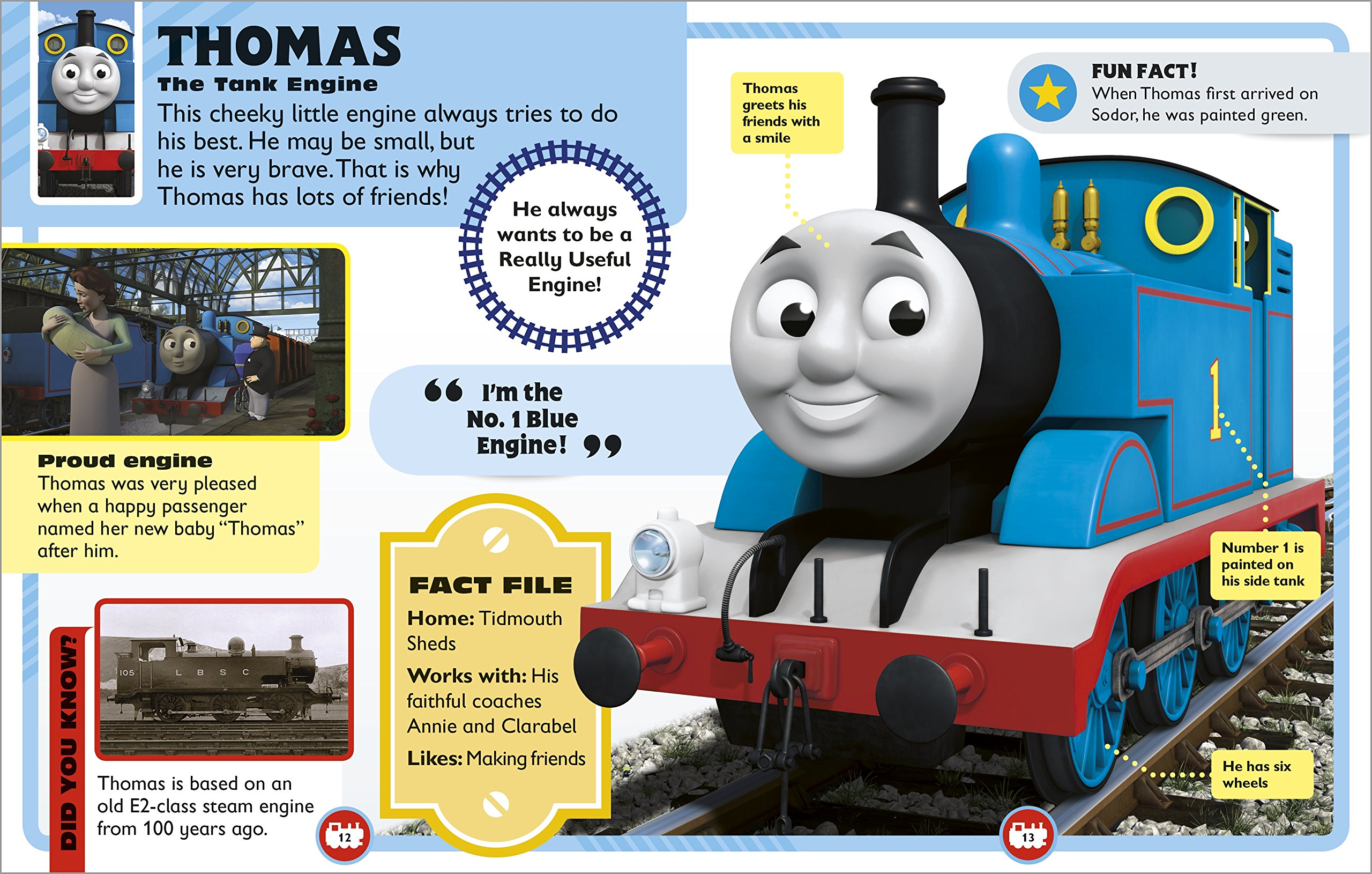 Thomas Friends Character Encyclopedia With Mini Toy Amazoncouk DK Books