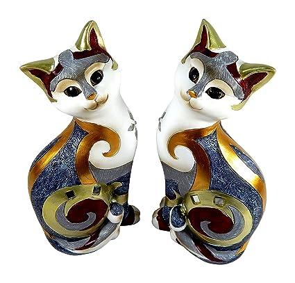 Figuras Gatos en un juego de 2 unidades XL Pie 27 cm - 2 Esculturas en