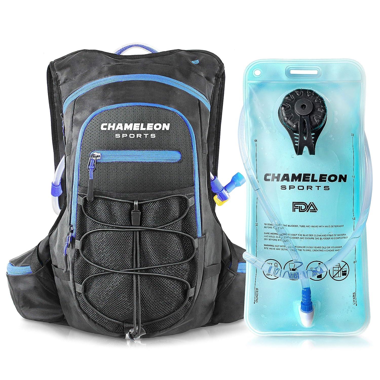 Chameleon ハイドレーションバックパック 防水 通気性 キャメル ウォーターバッグパック トレイル ランニング サイクリング ハイキング用  AquaTitan 5500 - Black B07HJD8JHP