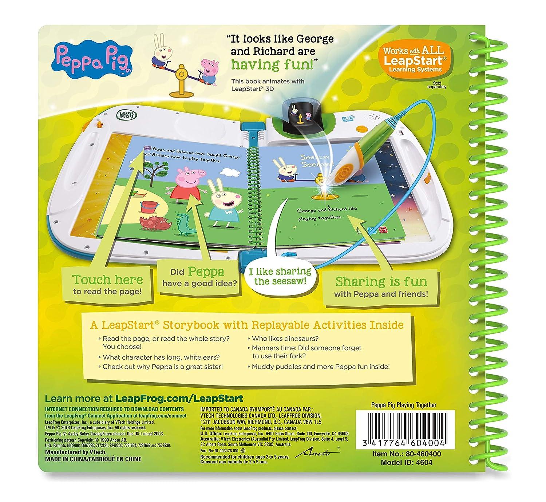 Taglia Unica Multicolore LeapFrog 460403/3D Story Book apprendimento Peppa Pig