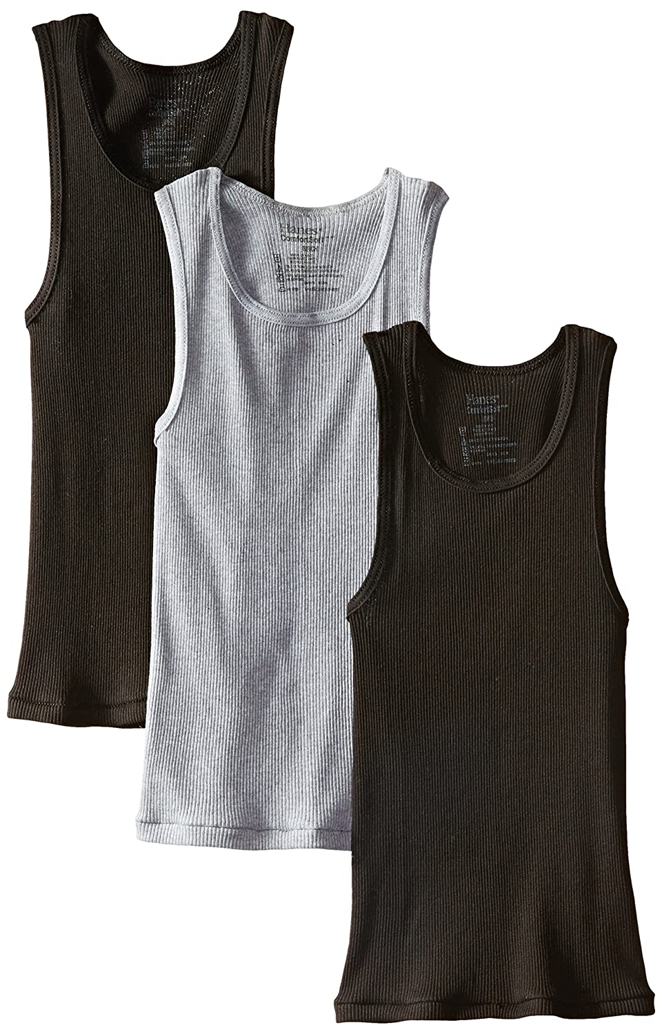 Hanes Boys 3 Pack Ultimate ComfortSoft Dyed Tank Hanes Boys 8-20 Underwear BU392C