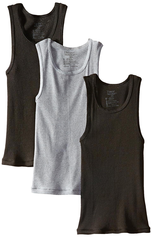 Hanes Boys' 3 Pack Ultimate Comfortsoft  Dyed Tank Hanes Boys 8-20 Underwear BU392C