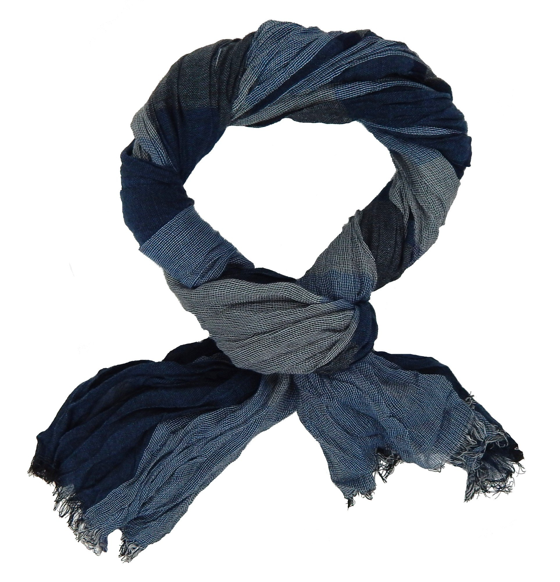 Ella Jonte mens scarf blue grey casual-style