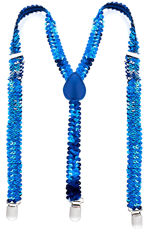 Premium Sequin Bow Tie /& Suspenders Set Man of Men