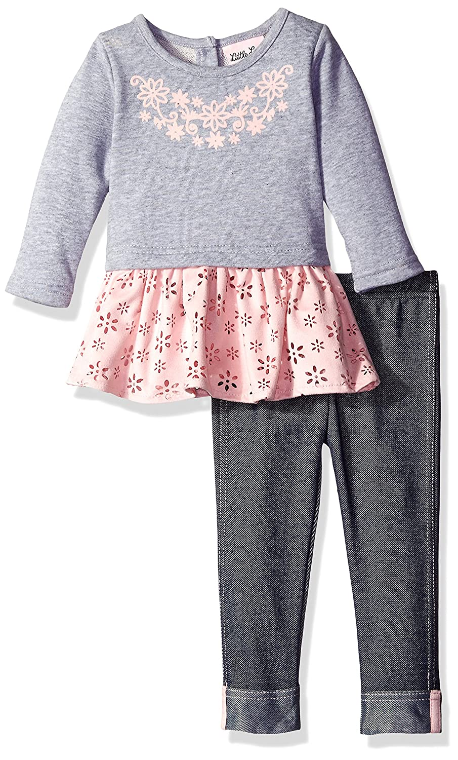 e6a2e0650827 Amazon.com  Little Lass Baby Girls  2 Piece Legging Set Laser Cut ...