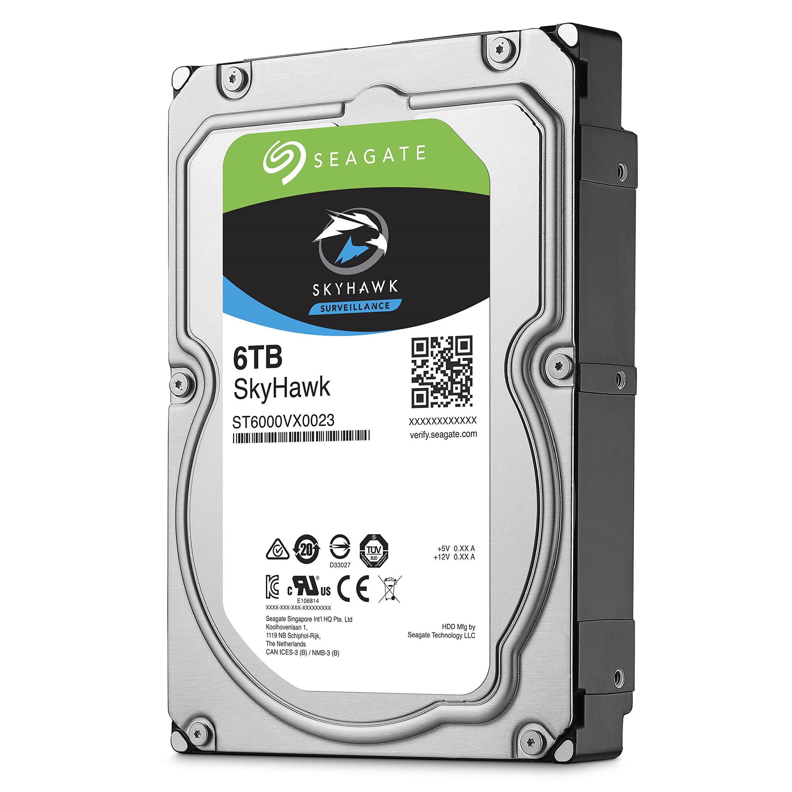 Seagate SkyHawk 6TB Surveillance Hard Drive - SATA 6Gb/s 128MB Cache 3.5-Inch Internal Drive (ST6000VX0023) by Seagate (Image #4)