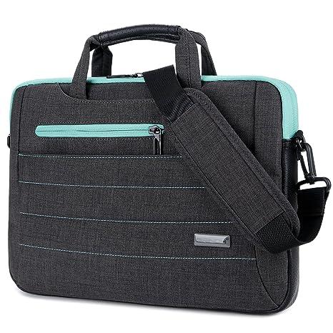 cb33bedae3e7 BRINCH 15-15.6 Inch Multi-Functional Suit Fabric Portable Laptop Sleeve  Case Shoulder Messenger