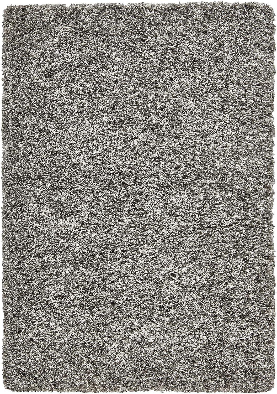 Think Rugs - Alfombra contemporánea, Resistente a Las Manchas, Resistente, de Calidad, con Tapa, Lisa, de Peluche, 240 x 340 cm, Color Plateado: Amazon.es: Hogar