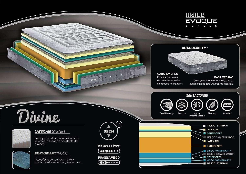 Marpe Colchon Divine Dual Sense con Viscoelástica Formadapt® y Látex Air (80X190): Amazon.es: Hogar