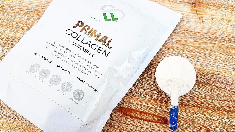 Primal Colágeno + Vitamina C de LLS | Colágeno bovino hidrolizado más vitamina C para la producción mejorada de colágeno | Paleo/Primal Friendly ...