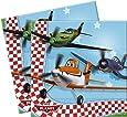 20 serviettes de table en papier Planes Disney