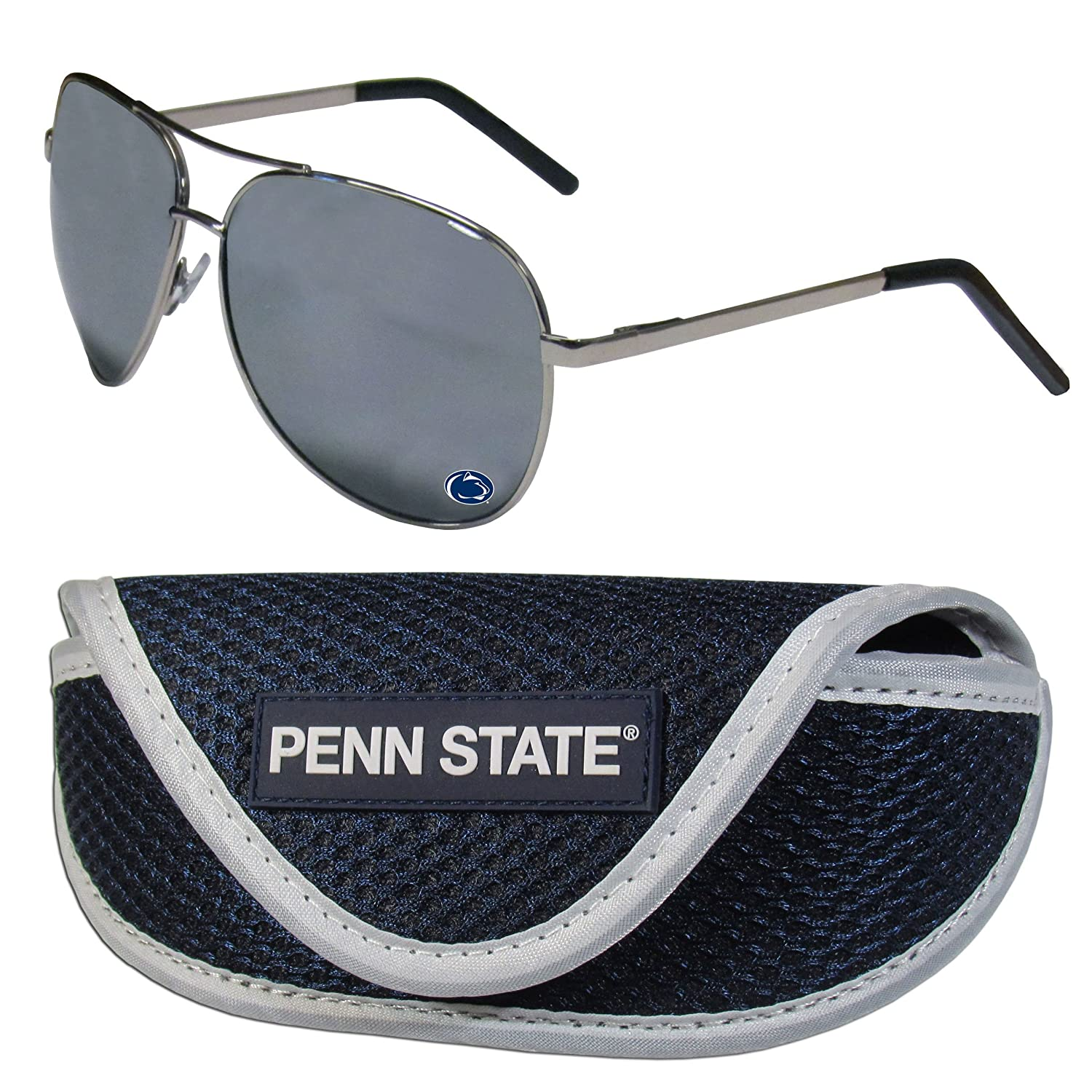 NCAA Penn State Nittany Lions Aviator Sunglasses /& Sports Case Silver