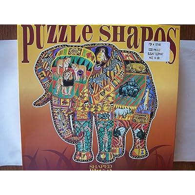 Puzzle Shapes Elegant Elephant Puzzle: Toys & Games