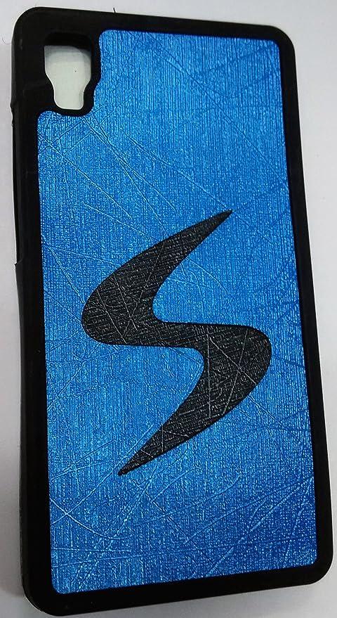 online retailer c92d1 e03e9 Blue + Black Premium Soft Back Cover For Micromax A093: Amazon.in ...