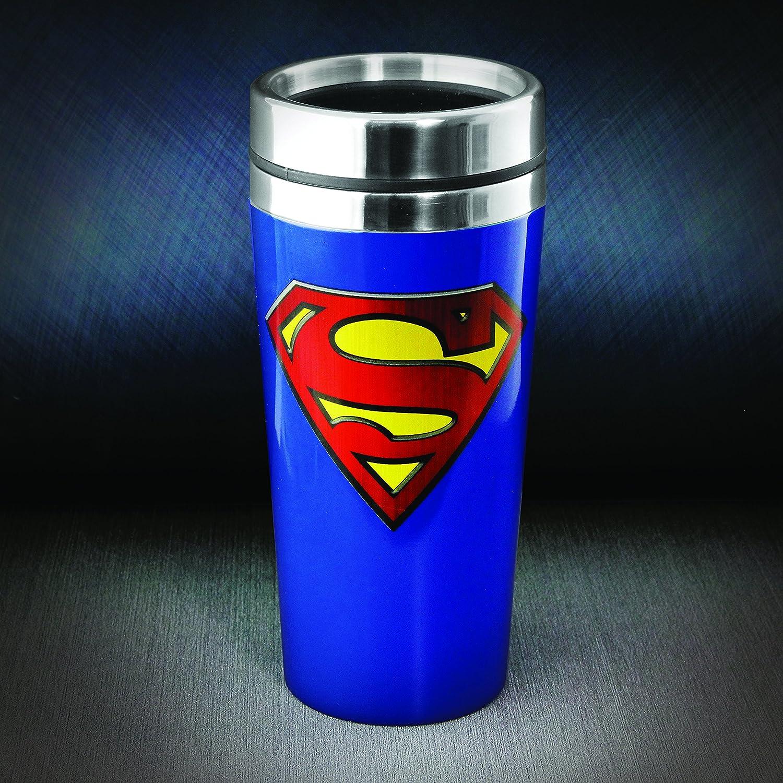 Superman PP2901SM Taza de Viaje Multicolor 9 cm Acero Inoxidable