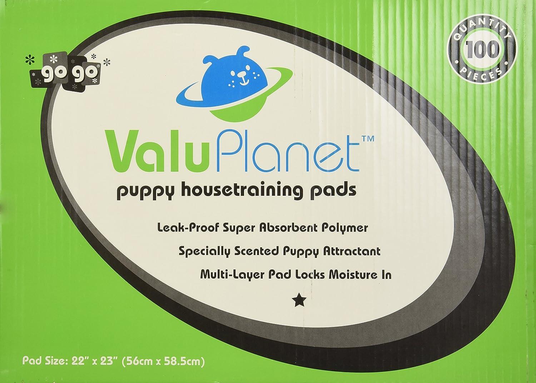 ValuPlanet 100-Pack Dog Training Pads
