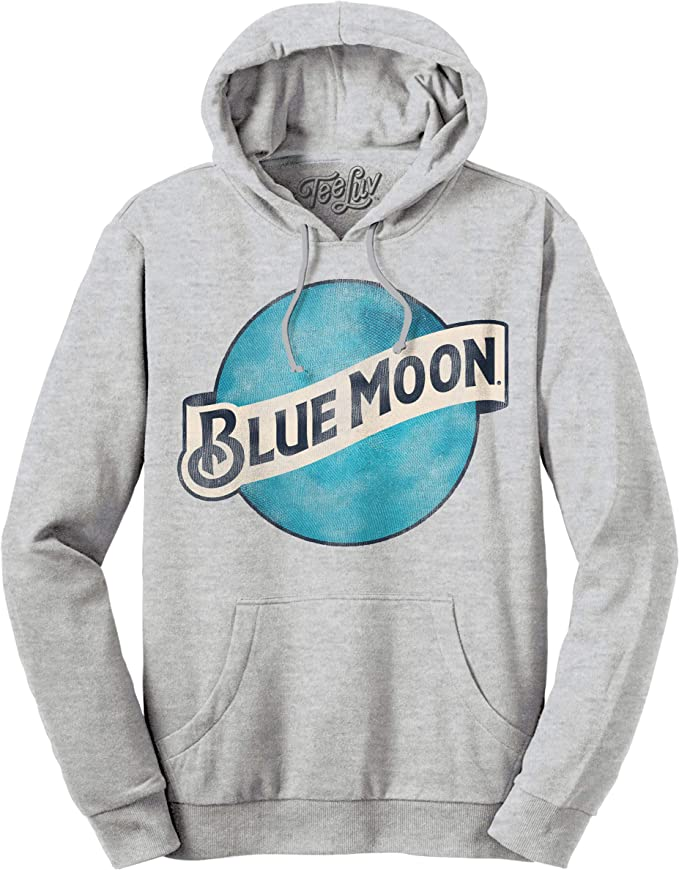 Blue Moon Tall Glass with Orange Sky Blue Hoodie