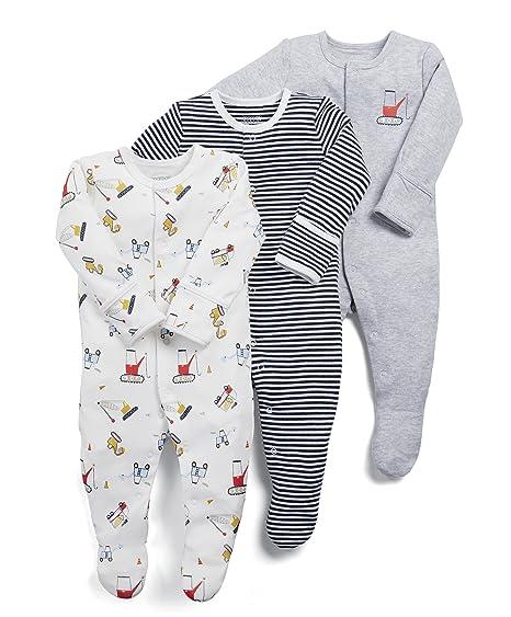 ae311ed443126 Mamas   Papas Pack of 3 Builders Sleepsuits Pyjama