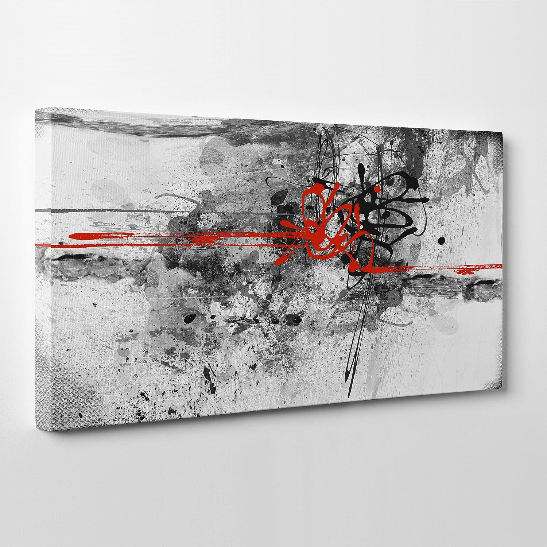 QUADRO MODERNO Panoramico su Tela Canvas - Ction Painting Astratto ...