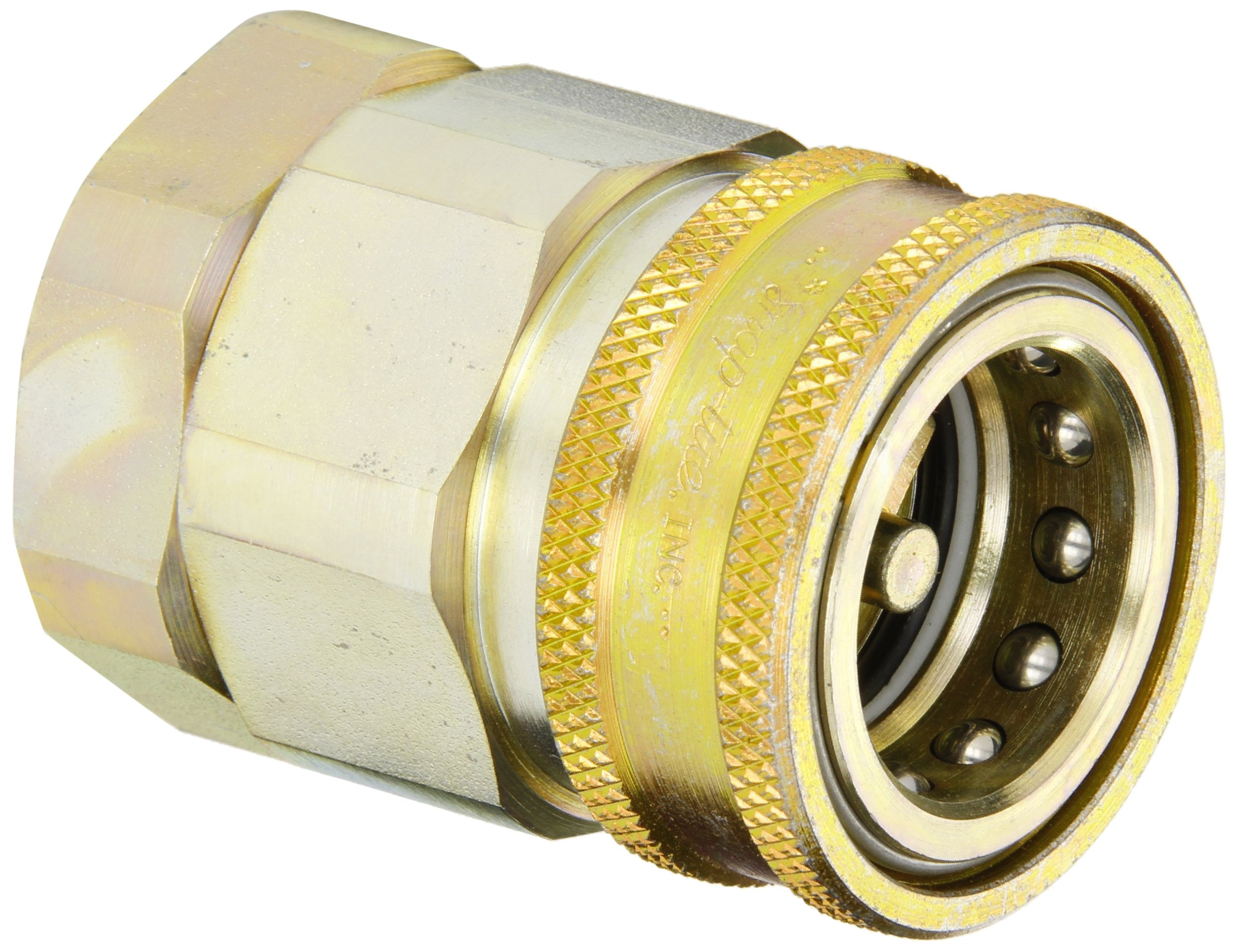 Snap-Tite VHC16-16F Zinc-Plated Steel H-Shape Quick-Disconnect Hose Coupling, Sleeve-Lock Socket, 1'' NPTF Female x 1'' Coupling Size