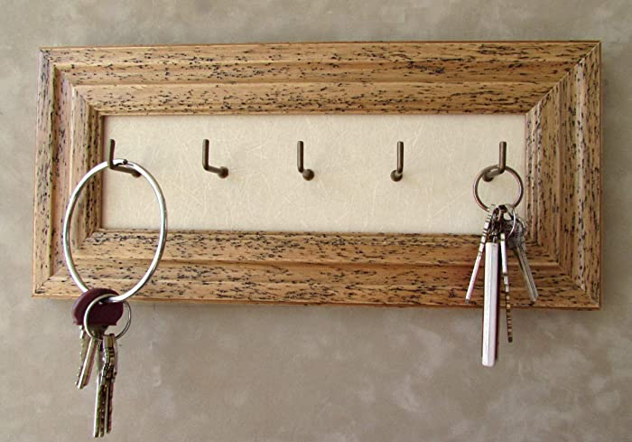 Amazon Distressed Key Holder Wall Mounted Hooks Rustic