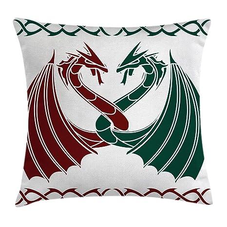 Celta manta almohada Funda de cojín por Ambesonne, dragones ...