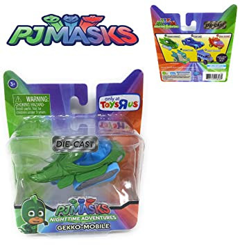 EXCLUSIVE PJ Masks Nighttime Adventure Die-Cast - Appr 3 inch Long GEKKO- MOBILE