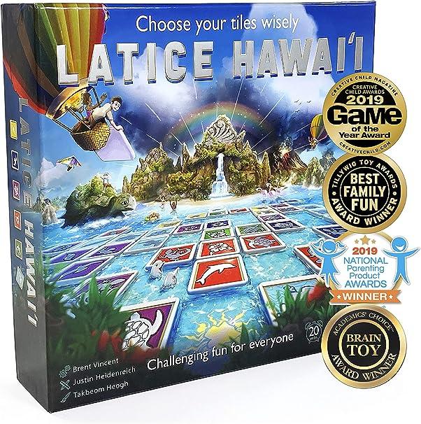 Juego de cartas de estrategia de latice – el popular juego familiar para niños y adultos, diversión desafiante para todo el mundo, Hawaii (caja magnética): Amazon.es: Juguetes y juegos