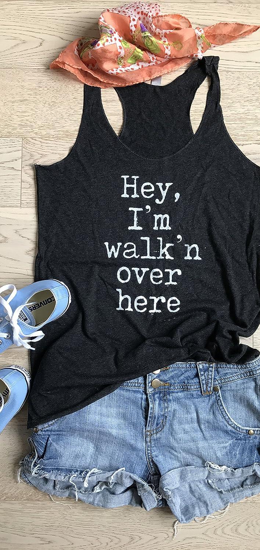 Hey, I'm Walkin' Over Here. Women's Eco Tri-Blend Racerback Tanks. Women Clothing. Workout Tank Tops. Racerback Tanks. Tank Tops.