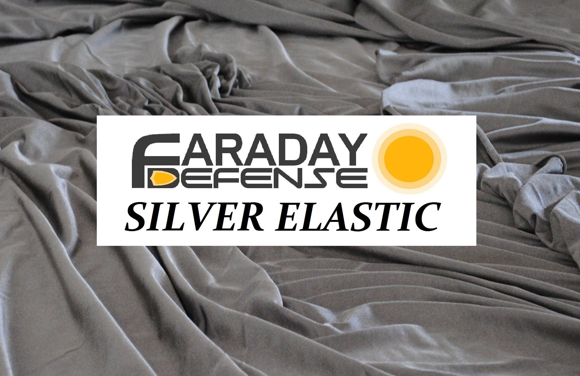 RFID Shielding Silver Fabric Roll 64'' x 3 Ft. - Premium Grade EMF Signal Blocking Material by Faraday Defense