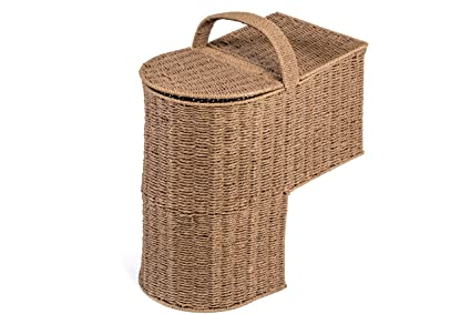 Genial Trademark Innovations 15.25u0026quot; Storage Stair Basket With Handle