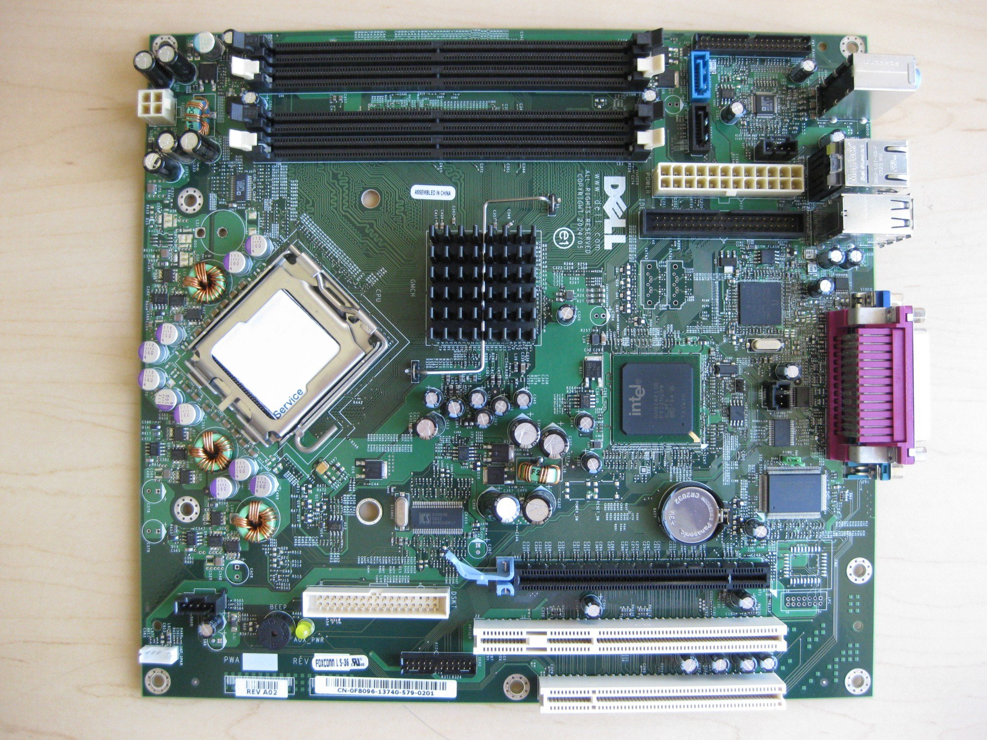 Genuine Dell FH884 ND237 F8096 GX620 Desktop DT Intel 945 Express LGA775 Socket 755 System Computer Logic Main System Board Compatible Part Numbers: ND237, F8096, FH884, HJ781 , X9681, CJ335