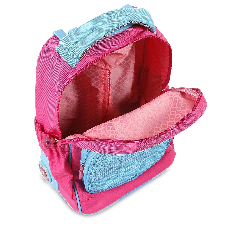 Amazon.com | J World New York Sparkle Kids Rolling Backpack, Pink | Kids Backpacks