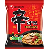 Nongshim Korean Famous Ramen Variety Selection (농심 라면) (Shin Ramen, 4 Pack)