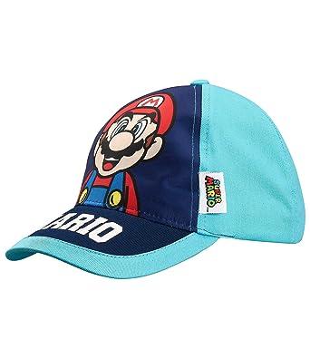 Nintendo Super Mario Bros Chicos Gorra de béisbol - Azul - 54 ...