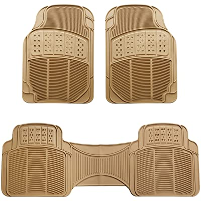 Basics 3 Piece Car Floor Mat, Beige: Automotive