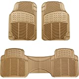 AmazonBasics 3 Piece Car Floor Mat, Beige