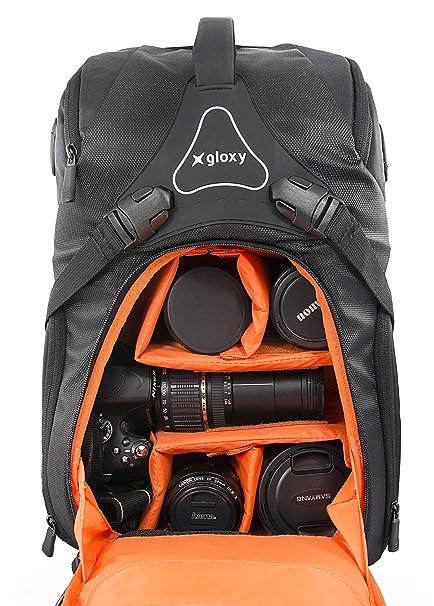 Gloxy PRO 20 AW Mochila Cámara Réflex Profesional e Impermeable Bolsa Fotográfica para Cámaras Réflex Trípode Canon Nikon Sony Pentax Drone Ordenador ...