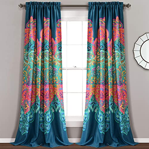 Lush Decor Boho Chic Room Darkening Window Curtain Panel Pair