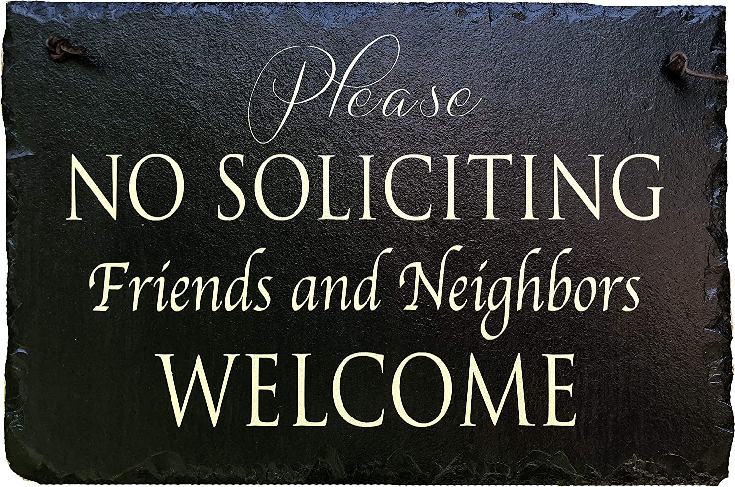 Sassy Squirrel No Soliciting Sign for House - Slate House Sign - No Solicitation - Keep Solicitors Away with This Outdoor Plaque Available 2 Sizes 12