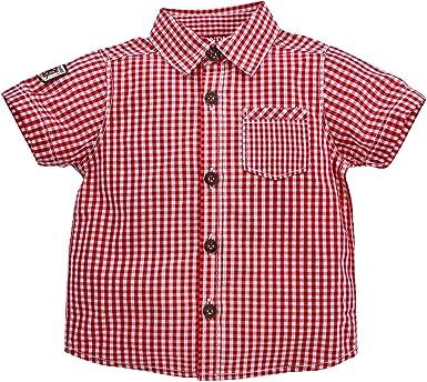 Bondi Camisa a Cuadros para Traje Regional Cuadros Rojo/Blanco. 92 cm: Amazon.es: Ropa y accesorios